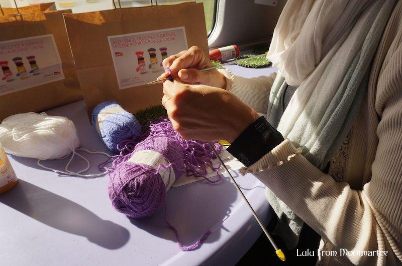 Le jour où j'ai tricoté dans le TGV
