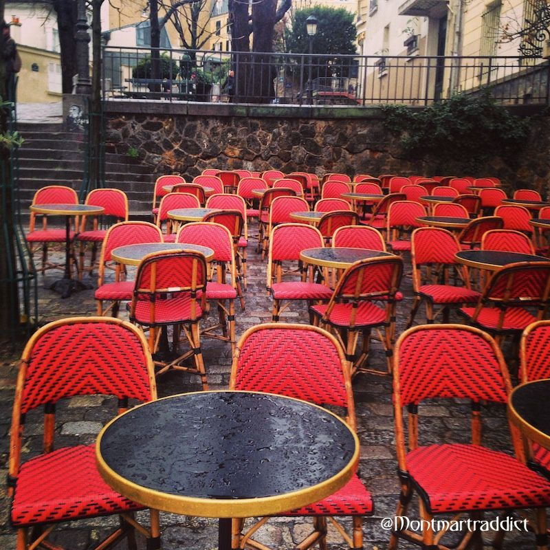 01. Terrasse sous la pluie, Montmartre 75018