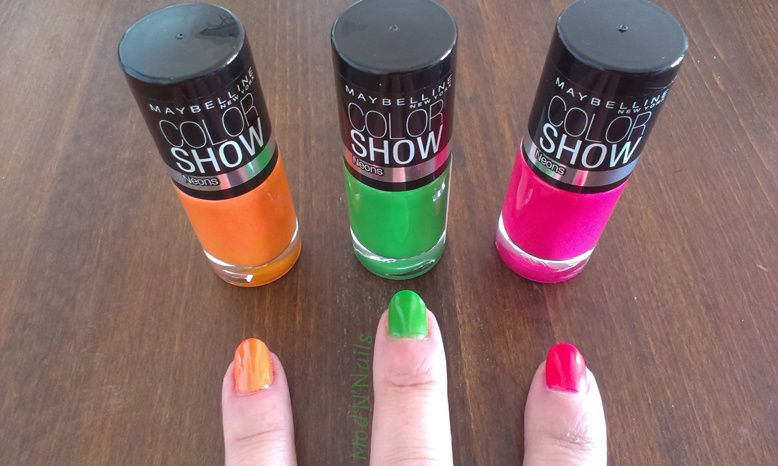 Color Show Neons Green Zing - Sweet Clementine - Pink Shock