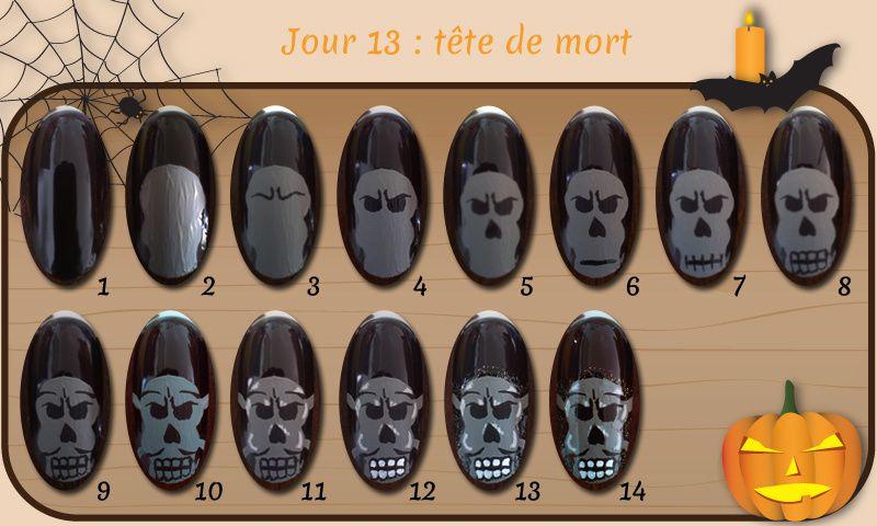 Défi Happy Halloween - Jour 13 : tête de mort
