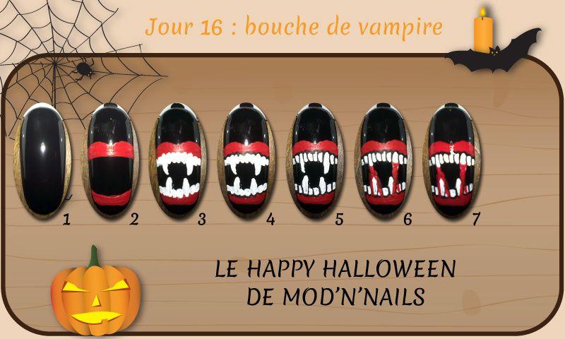 Défi Happy Halloween - Jour 16 : bouche de vampire