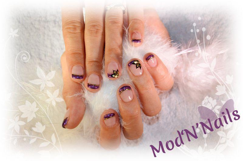 Manucure en Gel UV &amp&#x3B; Gel Foil