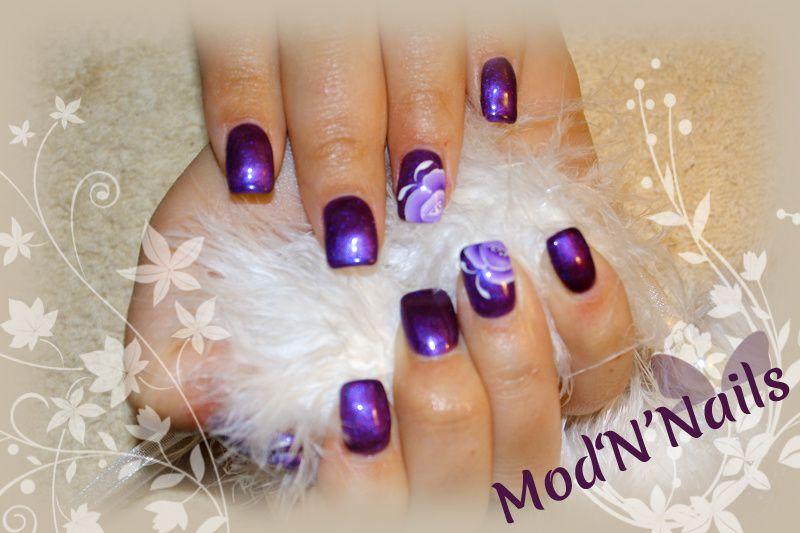 Rallongement en Gel UV sur ongles rongés Avant/Après + NA fleuri