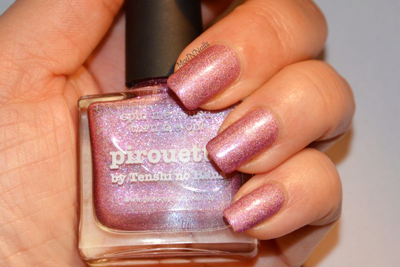 NA Papillons et arabesques sur dégradé rose Picture Polish