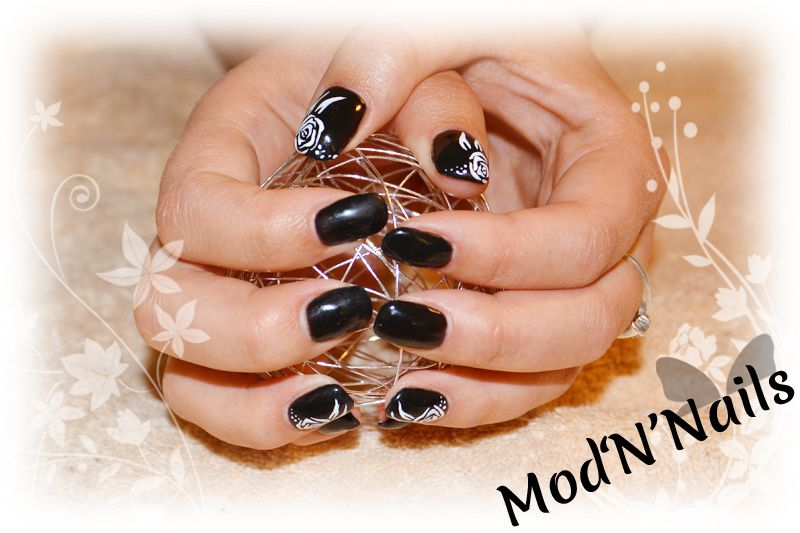 Manucure Gel UV Black &amp&#x3B; White
