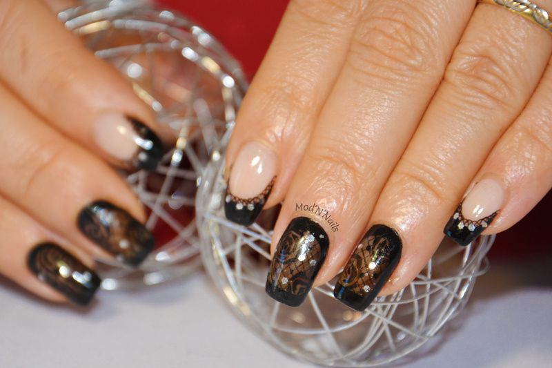Nail Art Challenge de Mars : Chic and Sexy dentelle