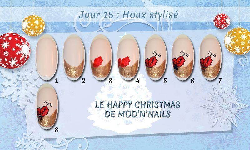 Jour 15 du Happy Christmas : Houx stylisé
