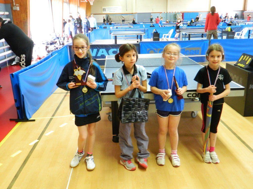 4 médailles aux finales par catégorie