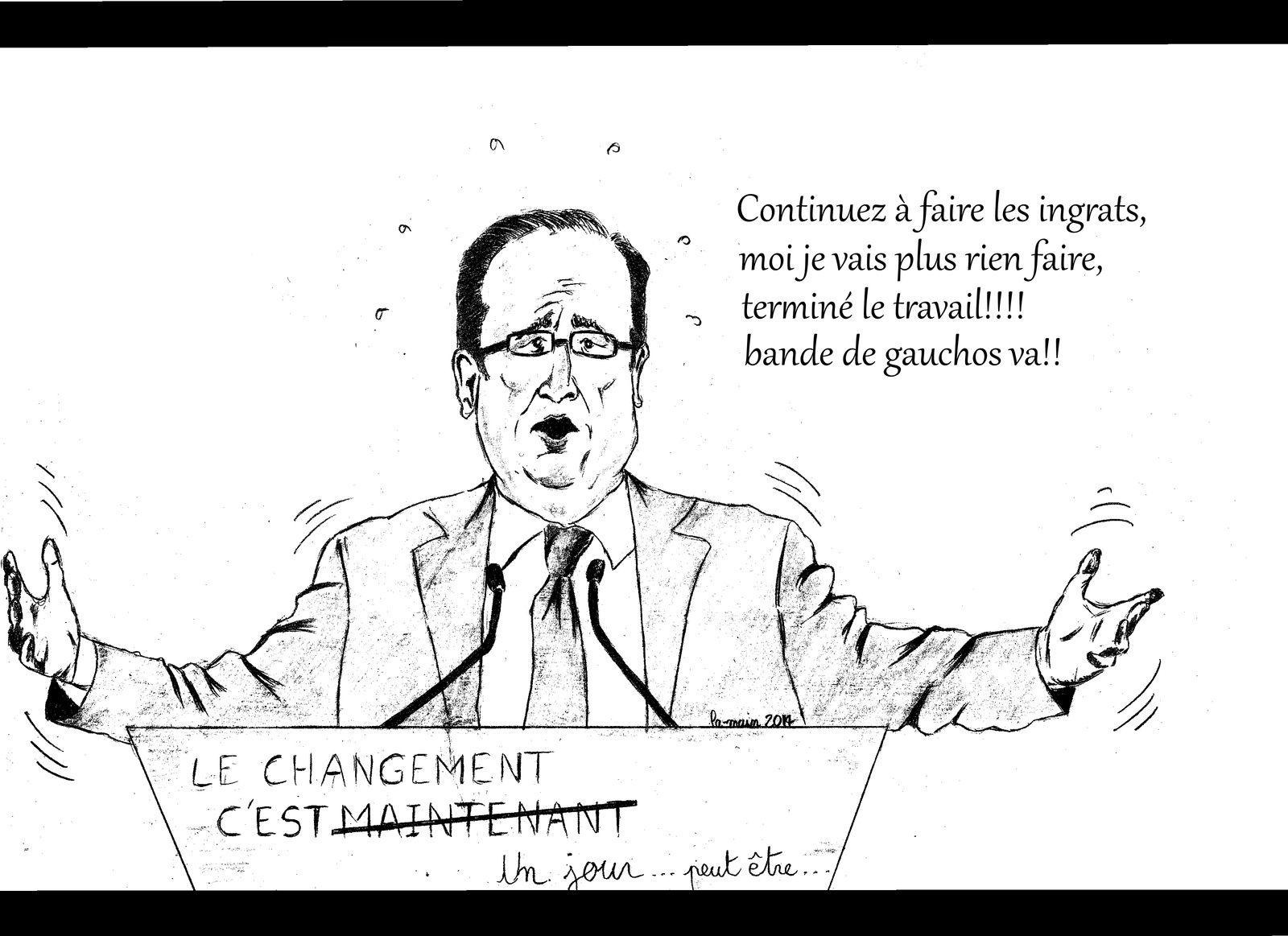 Hollande: 85% des français ne croient plus à sa politique ni à l'action de son gouvernement!!!