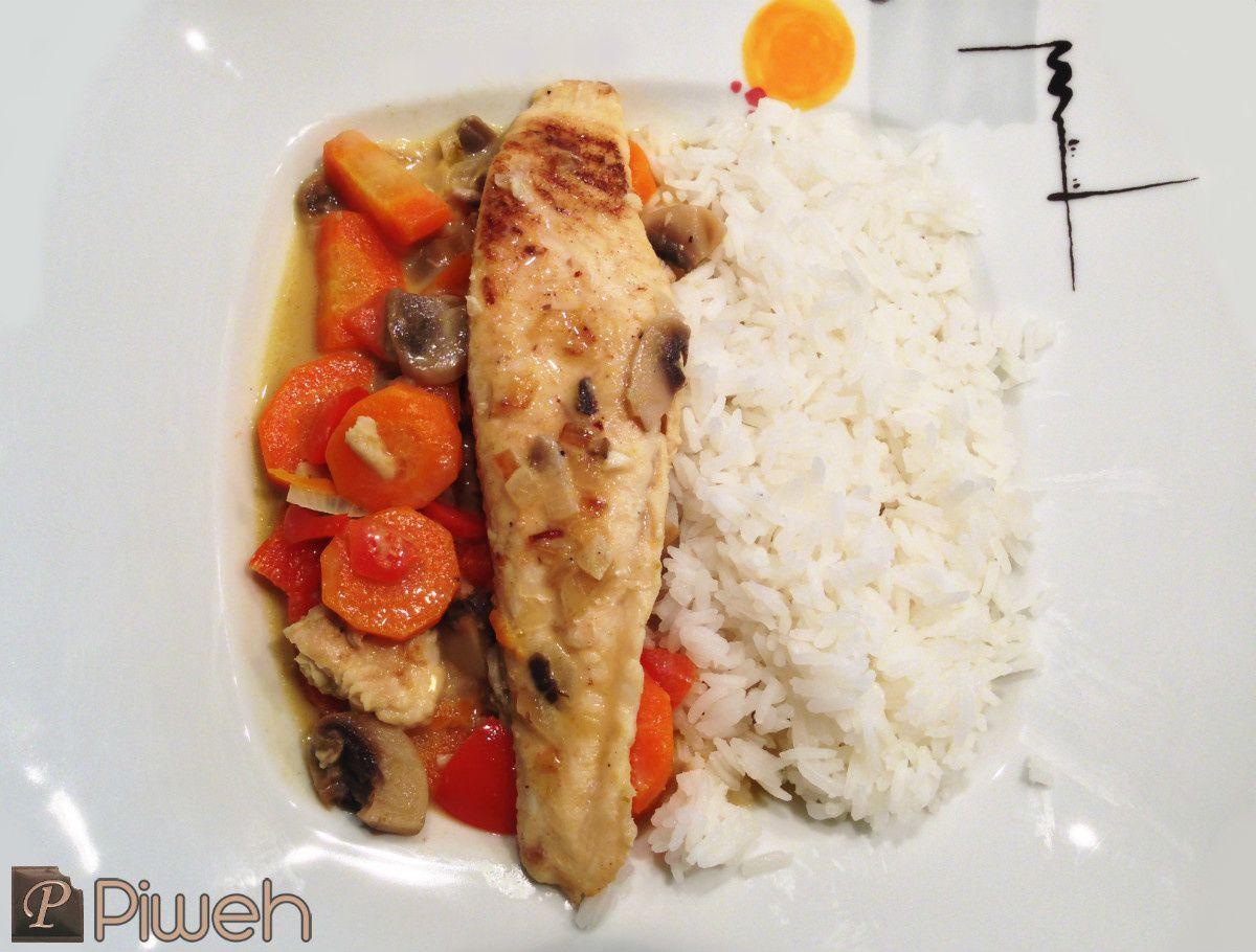 Filet de poisson blanc à la thaï