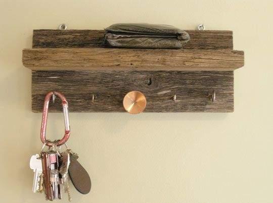 wooden key rack plans