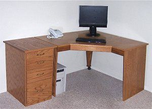 large wood desk plans