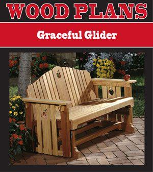 woodworking plans glider bench