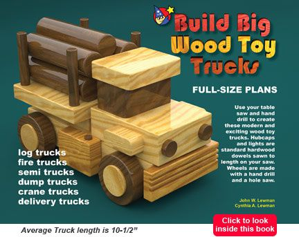 plans for wood toy trucks