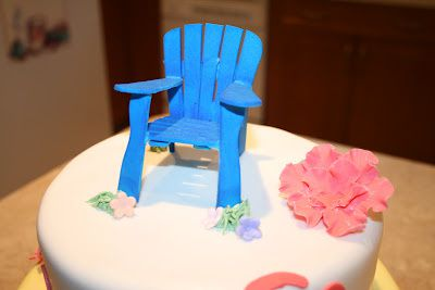 how to make an adirondack chair from fondant