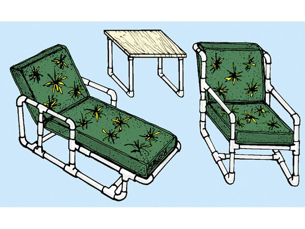 pvc outdoor furniture plans