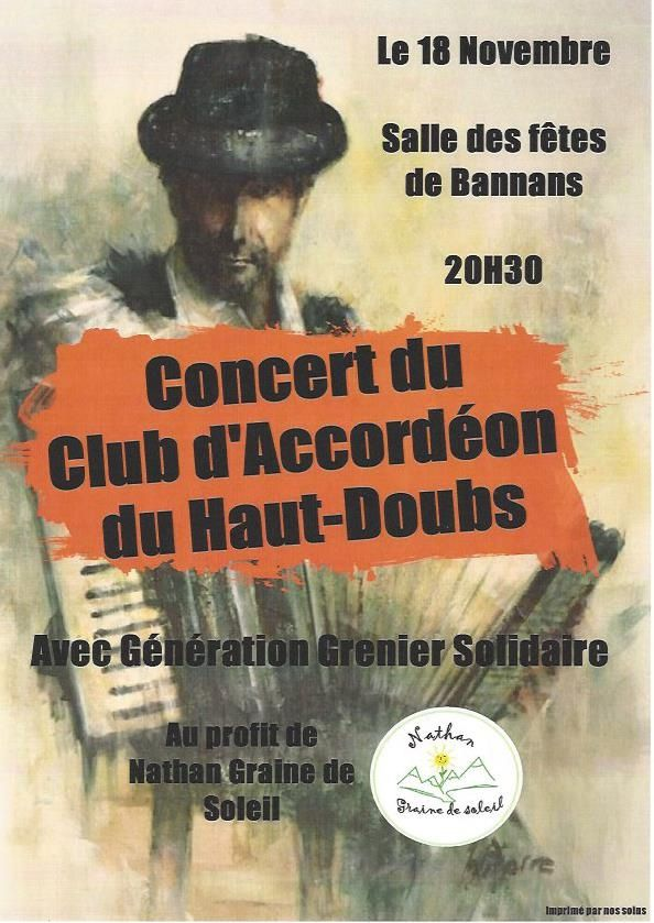 Concert du club d'accordéons du Haut-Doubs