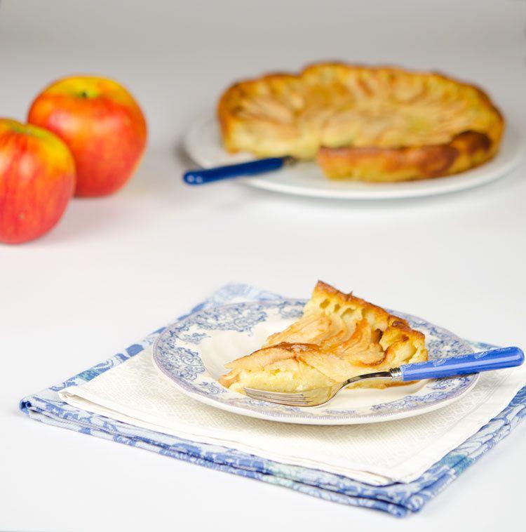 Gâteau  aux pommes très vanillé