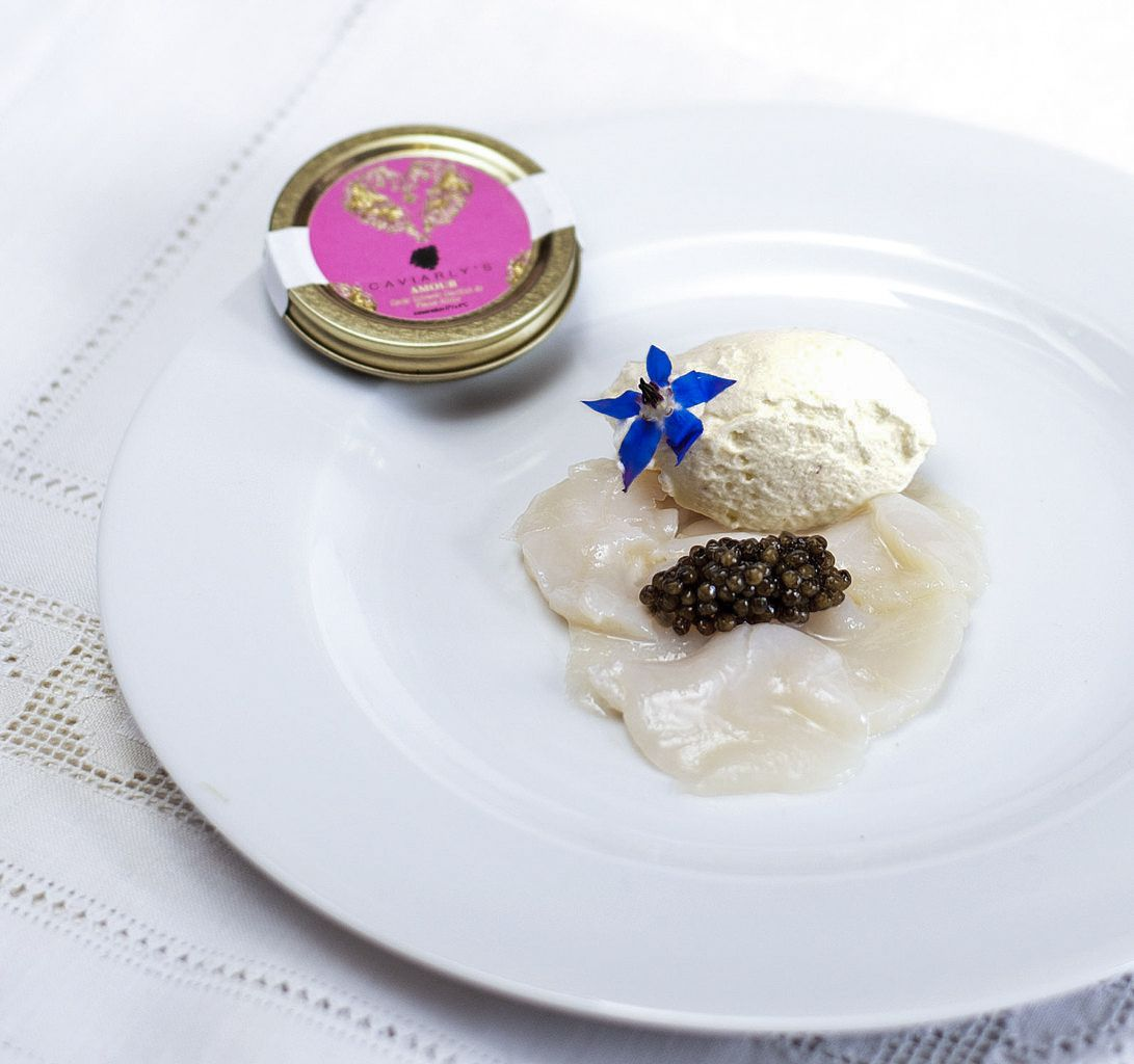 Carpaccio de Saint-Jacques et caviar chinois Amour de Caviarly's