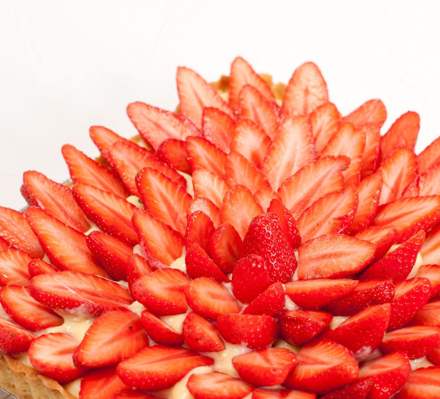 Tarte aux fraises simple, bonne et jolie (parfaite, quoi!)