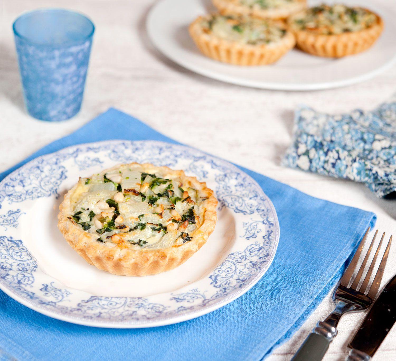 Tartelettes aux blettes, pignons et pécorino