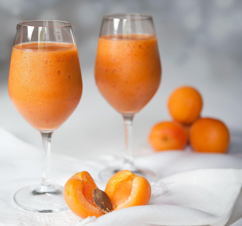 Boisson ou dessert abricots-melon, healthy