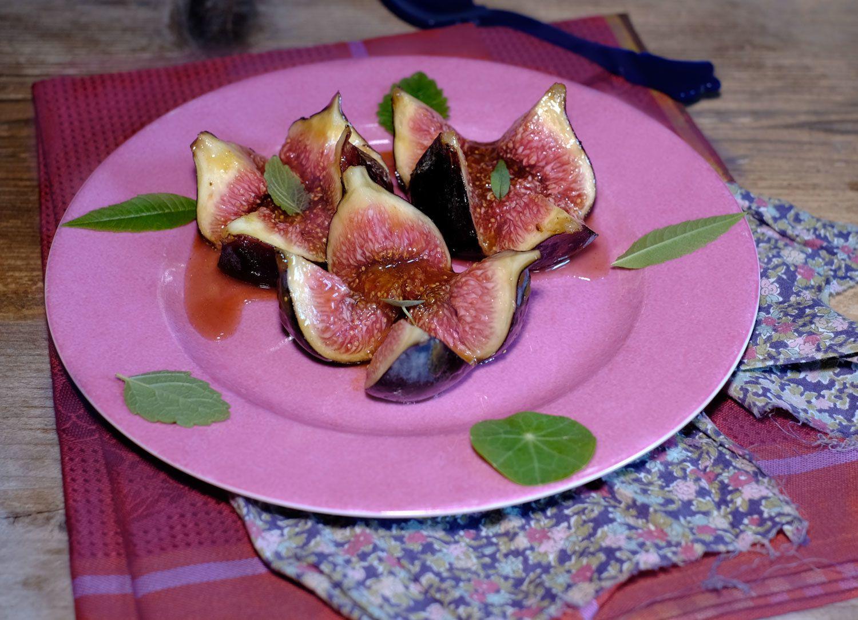 Figues au caramel de miel épicé (sans four pour paresseuse)