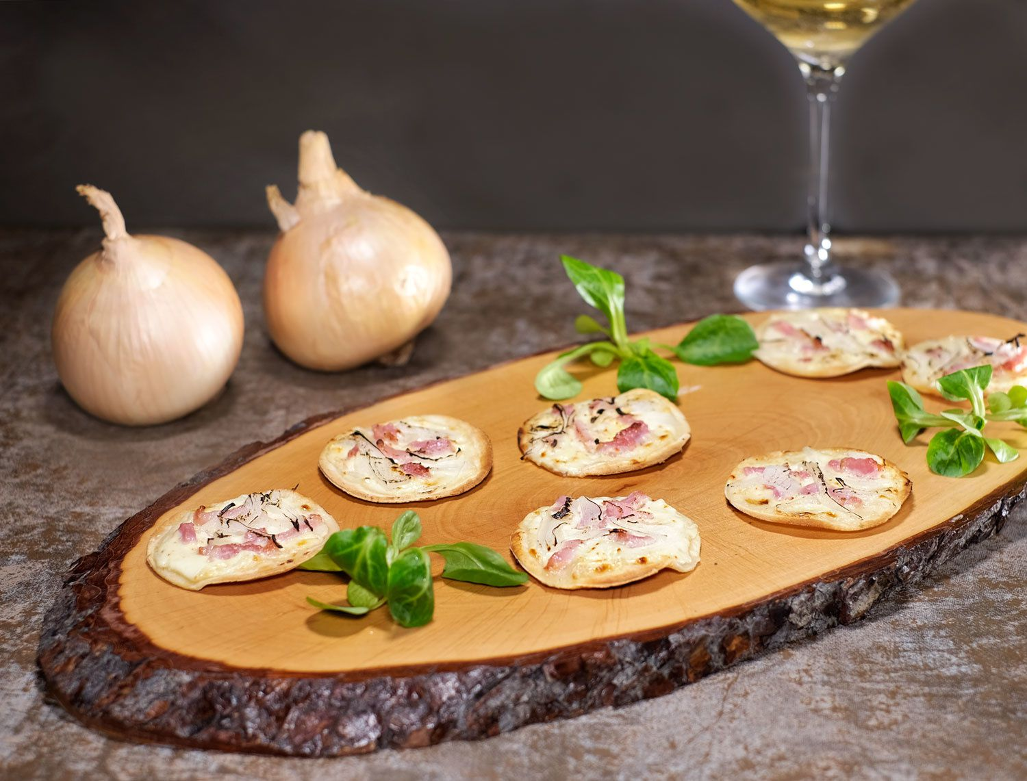 Tarte flambée (mini) ou flammekueche version apéritf