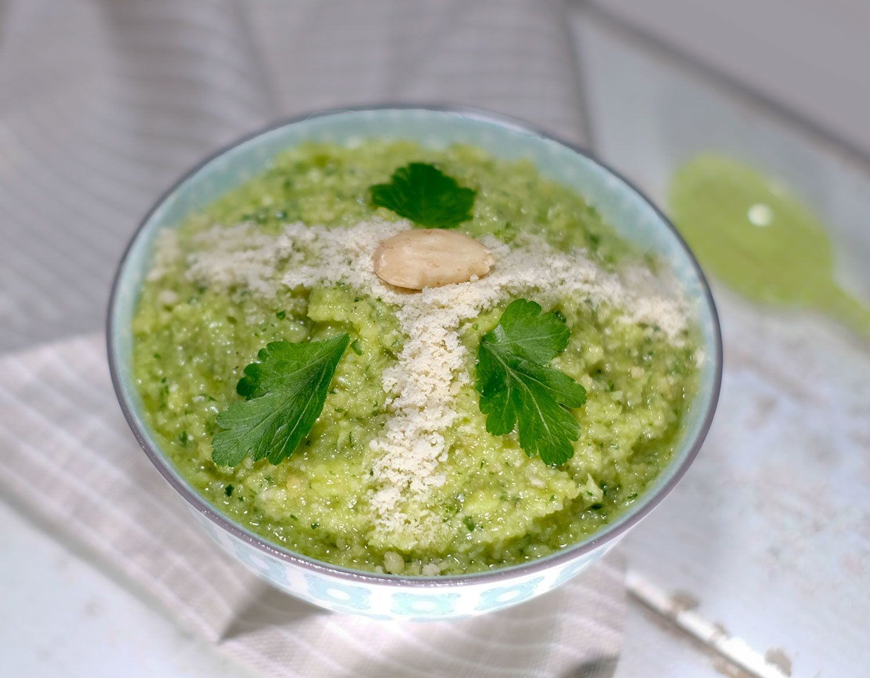Pesto de chou au persil et amandes