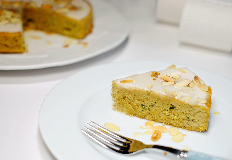 Gâteau Aux Amandes Courgette Et Fleur Doranger Sans Gluten Et