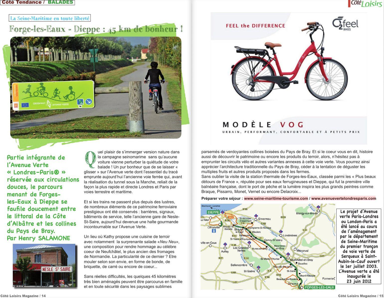 Forges-les-Eaux-Dieppe, une escapade à vélo très... familiale !