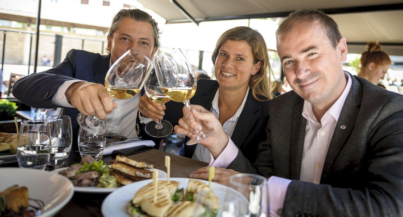 De gauche à droite : Sylvain François, Sybille Martin et Benjamin Roffet / © Nicolas Broquedis