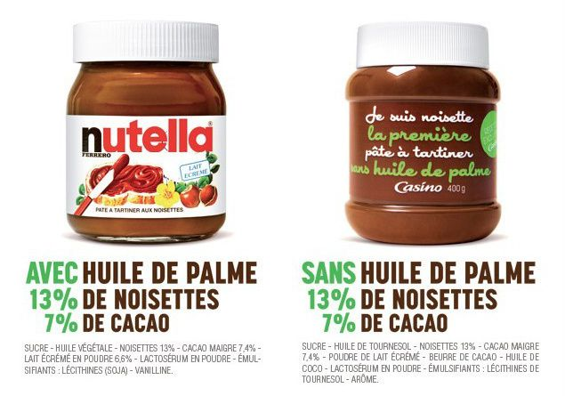 Devenir Nutella à la place de Nutella