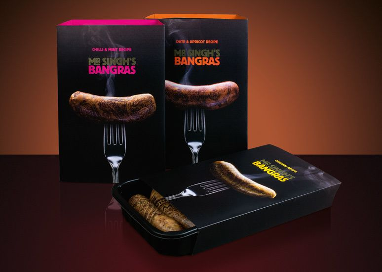 Mr Singh's Bangras (Indian food) / Design : Paul Currah, Angleterre