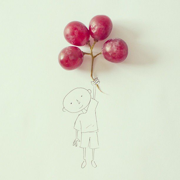 Globos de uva #sketch #grapes #balloon - Javier Pérez