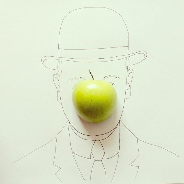 The Son of Man (in 3D) #magritte - Javier Pérez