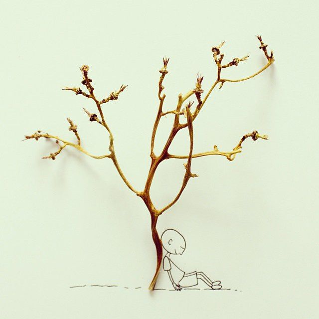 Grape tree without grapes #sketch - Javier Pérez