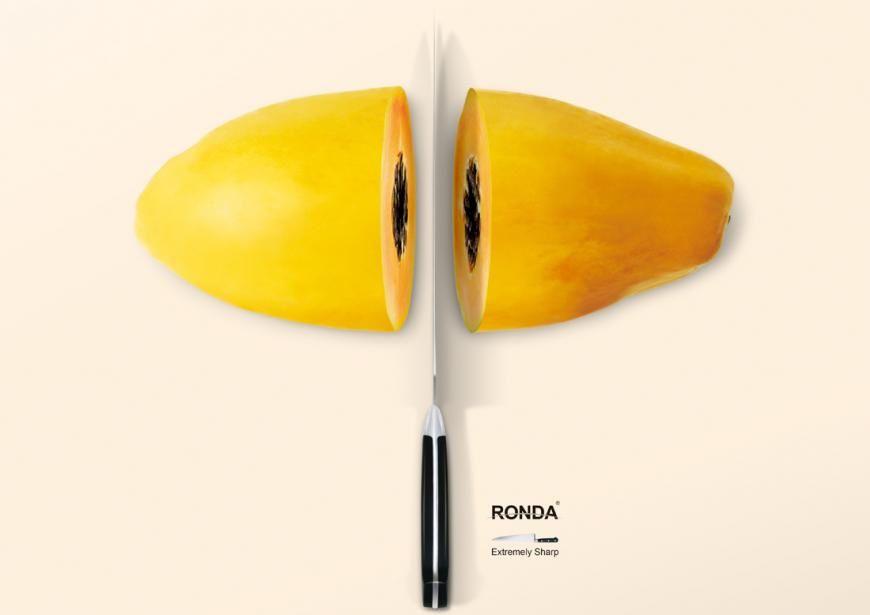 """""""Extremely Sharp"""" // Agence : Strange Idea Ad, Beijing, Chine, pour les couteaux de cuisine de la marque Ronda (Août 2012)"""