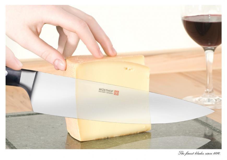 """""""The finest blades since 1814"""" // Création : Miami Ad School Europe, pour les couteaux de cuisine Wüsthof"""
