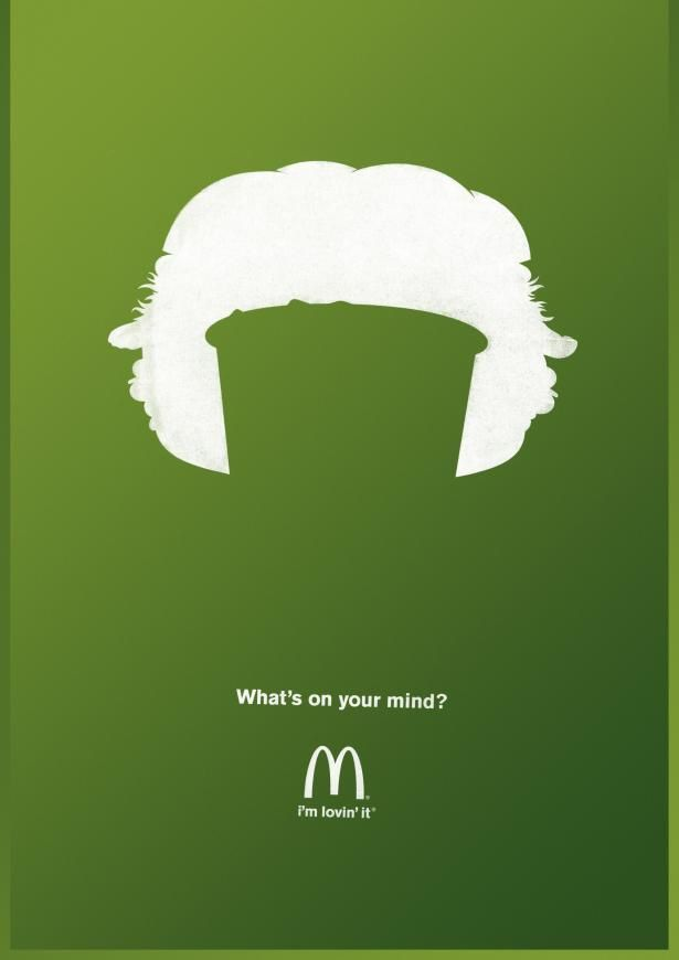 """""""What's on your mind?""""   Agence : Heye GmbH, Munich, Allemagne pour McDonald's (janvier 2014)"""