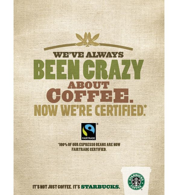 """We've always been crazy about coffee. Now we're certified"" 
