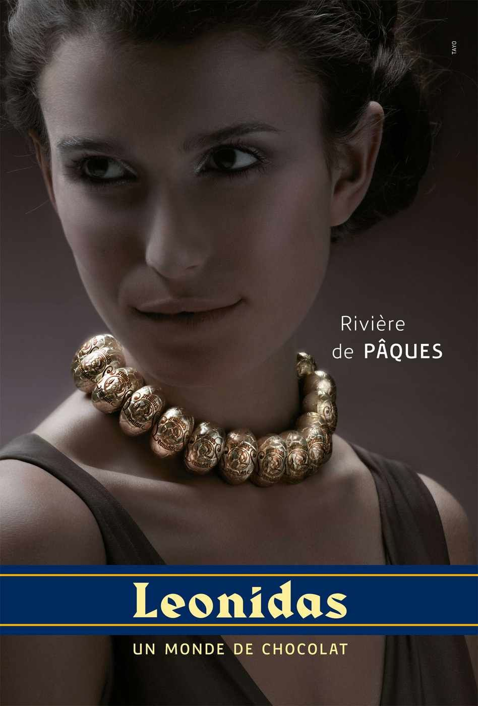 Agence : Tayo, Waterloo, Belgique, pour les chocolats Leonidas (mars 2010)