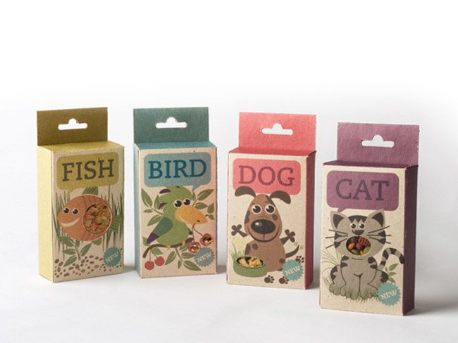 Fish, Bird, Dog & Cat  Read more (concept) | Design : Sara Strand, Suède (août 2011)