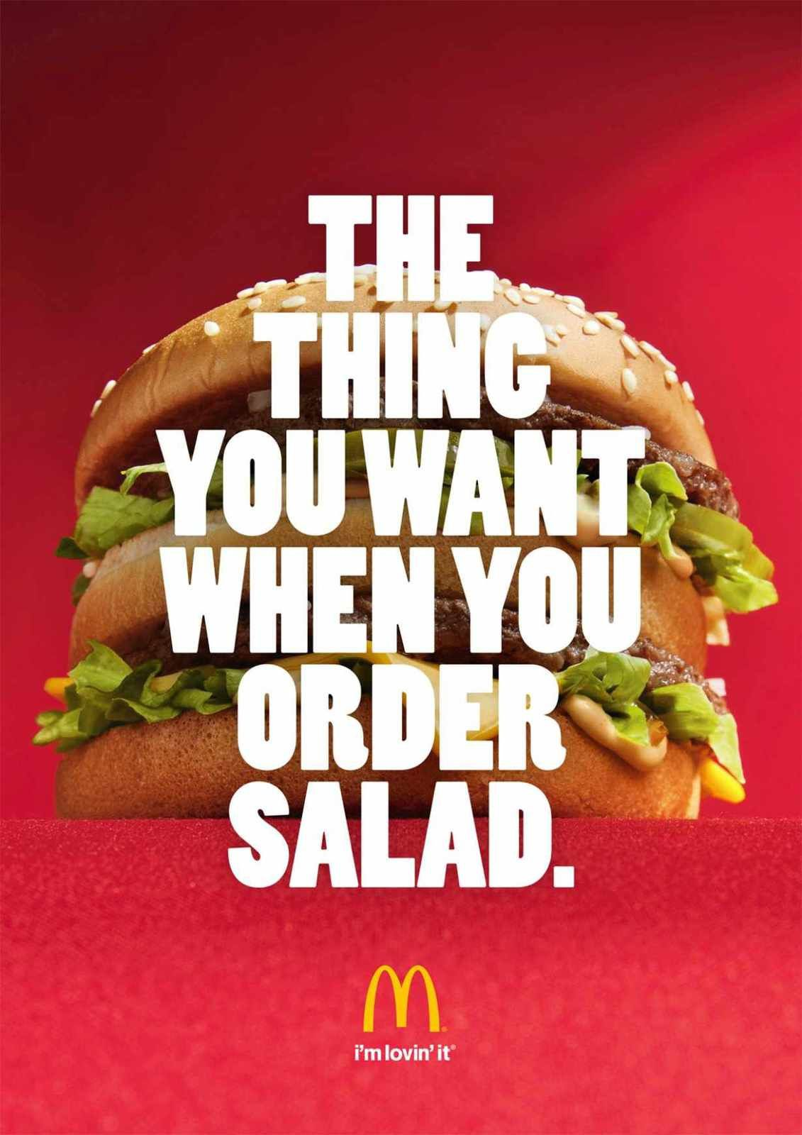 """The thing you want when you order salad"" 