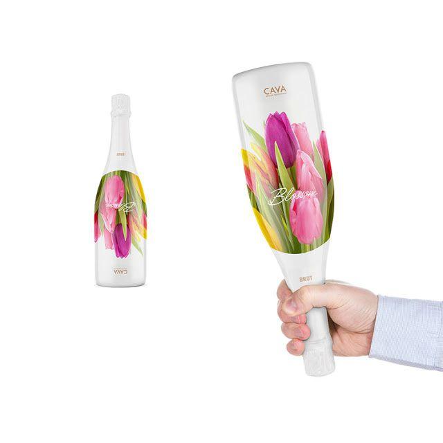 Blossom Cava (vin effervescent) | Design : PackLab, Norvège (août 2014)