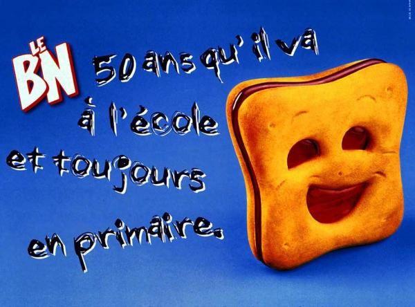 Agence : Leo Burnett Paris, France, pour les biscuits BN du groupe United Biscuits (juillet 1999)