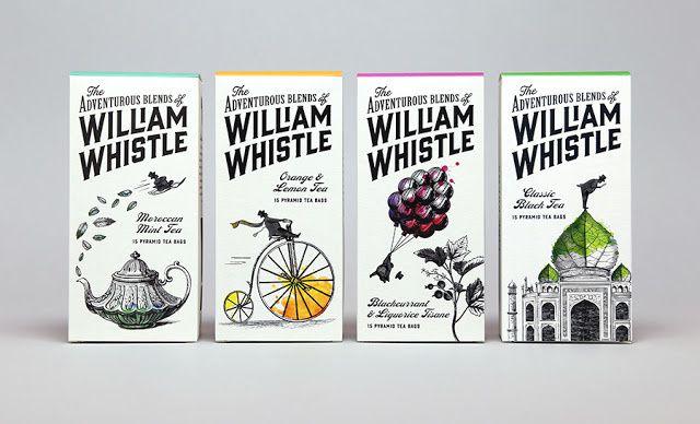 The Adventurous Blends of William Whistle (thé et café) | Design : Horse, Royaume-Uni (décembre 2014)