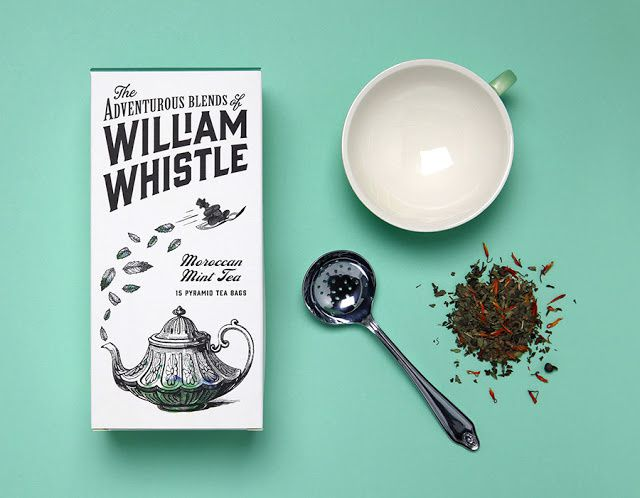 The Adventurous Blends of William Whistle (thé et café) | Design : Horse, Royaume-Uni (décembre 2014)