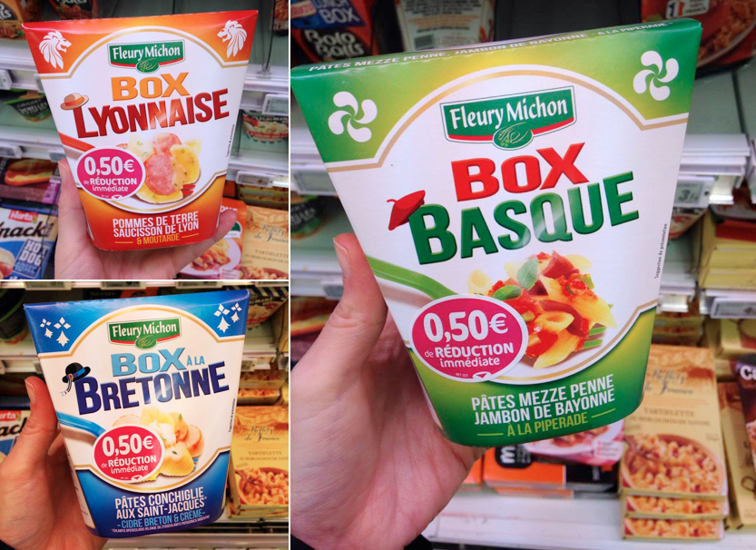 Box Fleury Michon : Lyonnaise / Bretonne / Basque