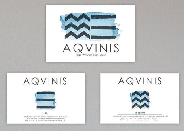 Aqvinis premium water (eau) | Design (concept) : Christine Vallaure, Berlin, Allemagne (janvier 2015)
